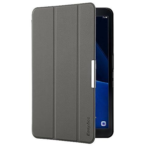 Samsung Galaxy Tab A 10.1 Hülle, EasyAcc Samsung Galaxy Tab A6 10.1 Zoll T580N/ T585N Case Schutzhülle Hochwertiges PU Leder Etui - mit Automatischem Schlaf Funktion und Standfunktion (Grau, Kunstleder, Ultra (Hülle Für Galaxy Tab 3)