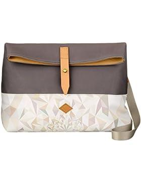Oilily Damen M Shoulder Bag Umhängetasche, Weiß (Oyster White), 9.5 x 23 x 30.5 cm