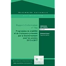Rapport d'information sur le projet de programme de stabilité et de croissance pour les années 2013 à 2017