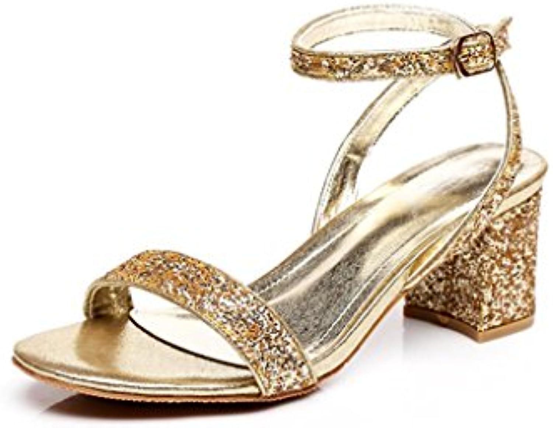 BaiLing Sandali di estate delle donne tacco tacco tacco a forma di cuore moda le scarpe di formato delle signore dei Sequins... | Acquisti  | Uomo/Donna Scarpa  ccd9f1