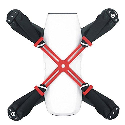 Preisvergleich Produktbild Bescita Propeller Props Blades Fixer Halter Mount Schutzgitter Zubehör für DJI Spark Drone (Rot)
