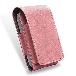 HomeYoo Fall Tasche Leder für iqos, PU professionelle elektronische Zigarettenetui wasserdicht Staub Regen schützen für iqos, tragbar PU-Leder Box Halter Speicher für iqos Elektronische (Rosa)