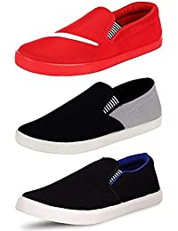 Maddy Combo Pack of 3 Loafer Shoes For Men's In Various Sizes