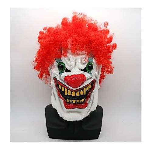 SonMo Horror Clown Maske Halloween Clownsmaske Kostüm Zubehör für Karneval Halloween ()