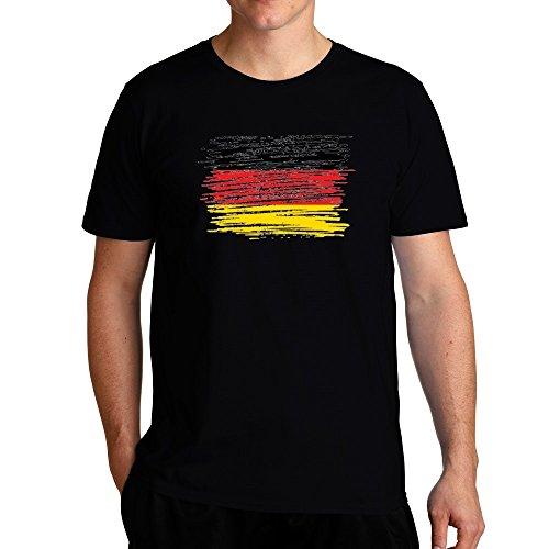 Eddany Schleswig Holstein Flag Scratched T-Shirt