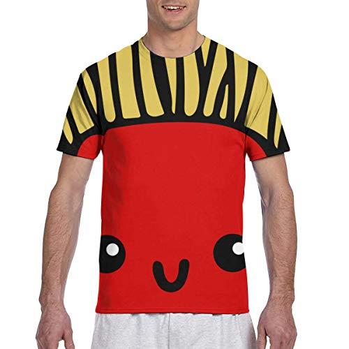 Zhgrong Men Tee Shirts French Fries Short Sleeve T-Shirts Crew Neck T Shirt