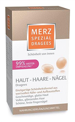 Merz Spezial Dragees Haut Haare Nägel/Nährstoffe für geschmeidige, glatte Haut, volles glänzendes Haar & schöne, feste Fingernägel/120 Stück für 2 Monate [Nahrungsergänzungsmittel]