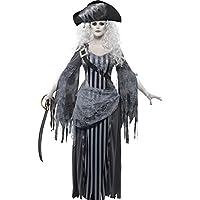 Genérico - 353280 - Disfraces de Halloween Mujer Fantasma Pirata - Pequeño