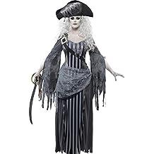 Smiffys - princesa del traje del barco fantasma, incl. toga y birrete, L