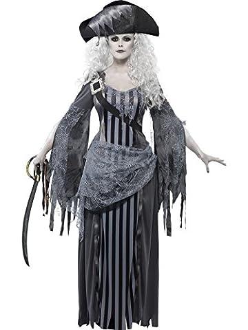 Smiffys, Damen Geisterschiff Prinzessin Kostüm, Kleid und Hut, Größe: S, 22970
