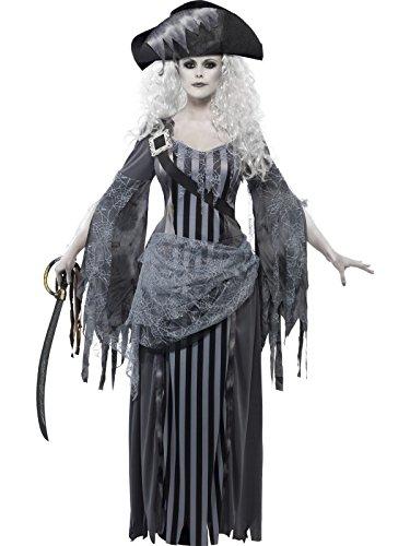 Smiffys, Damen Geisterschiff Prinzessin Kostüm, Kleid und Hut, Größe: M, (Geisterschiff Kostüme Kind Pirat)