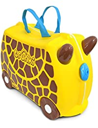 Trunki Gerry the Giraffe Ride On and Carry Suitcase (Yellow) Kindergepäck, 46 cm, 18 liters, Gelb