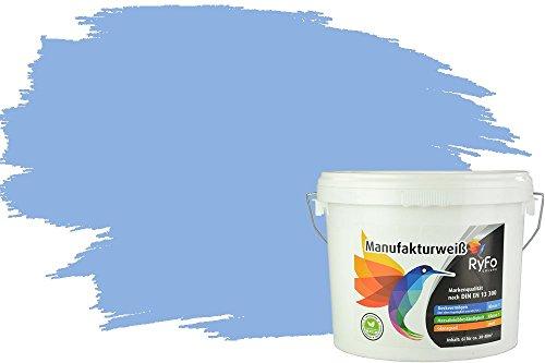 RyFo Colors Bunte Wandfarbe Manufakturweiß Meerwasserblau 6l - weitere Blau Farbtöne und Größen erhältlich, Deckkraft Klasse 1, Nassabrieb Klasse 1
