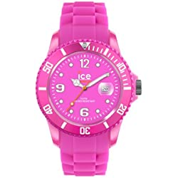 Ice-Watch Women's Quartz Watch with Pink Dial Analogue Display and Pink Silicone Strap SS.NPE.BB.S