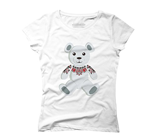 Haida tattooed teddy bear Women's Graphic T-Shirt - Design By Humans White