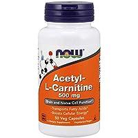 Preisvergleich für Now Foods Acetyl-L-Carnitin Energie für Nerven und Gehirn, 500mg, 50 vegetarische Kapseln
