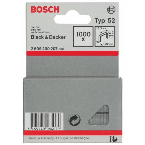 Bosch 2609200207 Agrafes 12 / 12,3 mm 1000 pièces Type 52