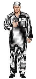 Boland 83658 Smith 54/56 - Disfraz de preso para Adulto, Color Negro y Blanco