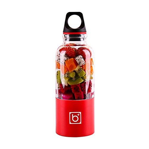 Vvciic 500ml portatile Juicer Coppa USB ricaricabile elettrico automatico Bingo succo di frutta verdura Maker Coppa Blender Mixer Bottiglia Rosso