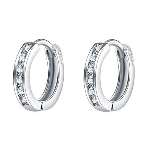 Yililay oro bianco 18k orecchini a cerchio con cristalli swarovski a goccia pendente orecchini argento cerchi da donna brillante rotondo cerchi per 1paio di gioielli accessori
