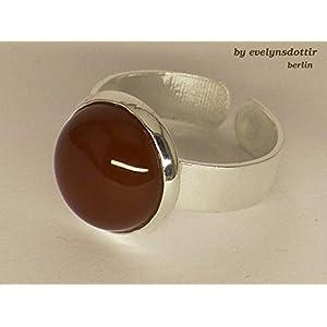 Edler silberner Ring mit echtem Karneol-Stein