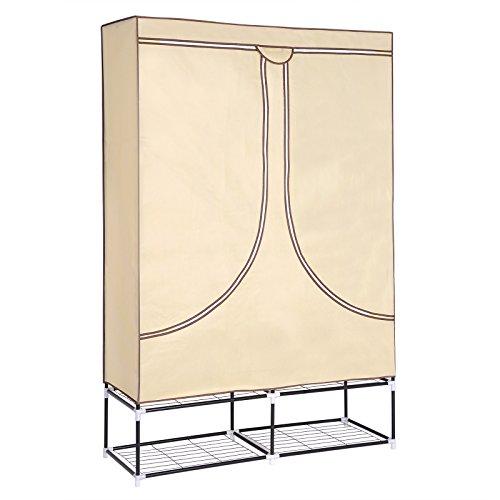 WOLTU SS5030 XXXL Deluxe Höhe 180 cm Kleiderschrank Stoff Regal, Garderobenschrank Campingschrank...