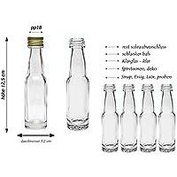 hocz Juego de Botellas de Cristal, Cierre de Rosca, 20/24 Piezas,