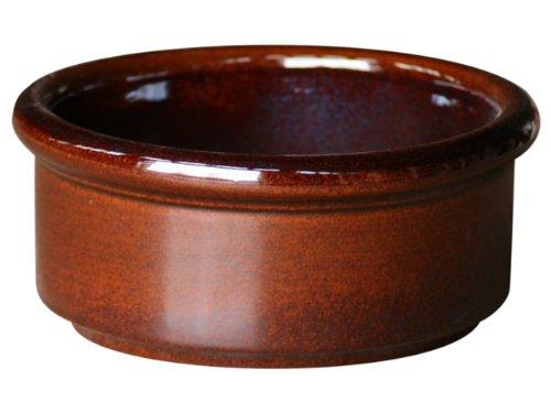 C & k bonsai pot autour, capetown halle 25 x 11 cm, marron, en frostbeständiger céramique de grès -