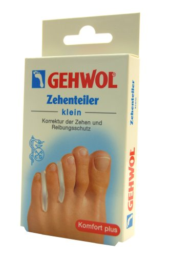 GEHWOL Separador del dedo del pie, Protección de la fricción para estrechamente relacionada con Dedos de los pies de Gel - pequeño