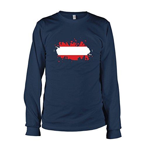 Texlab Herren Splash Österreich Langarm T-Shirt, Dunkelblau, L