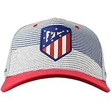 Atlético de Madrid Gorra Adulto Gris, Azul Marino y Rojo Producto Oficial - Nuevo Escudo
