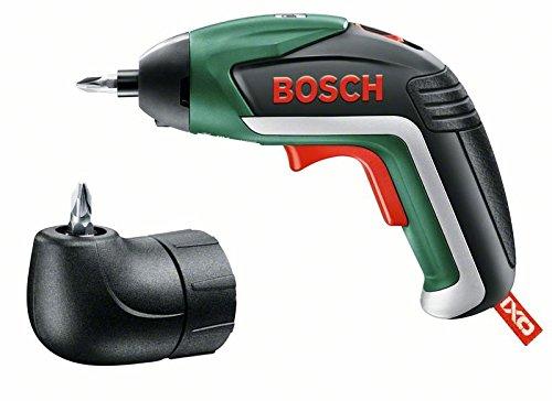 Preisvergleich Produktbild Bosch Akku-Schrauber IXO 5.Generation (Micro USB-Lader, 10 Bits, Metallverpackung, 3,6 Volt System, 1,5 Ah) + Bosch Winkelaufsatz für IXO