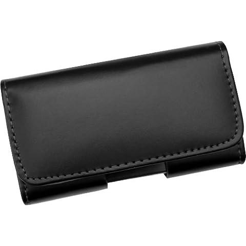 Funda cinturón horizontal de piel, con cierre magnético, para Samsung Galaxy S5 / Galaxy SM-G900F - Línea Premium de AQ Mobile