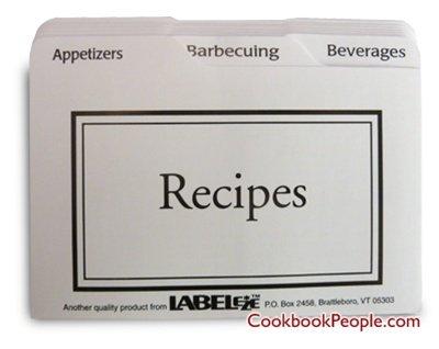 Recipe Card Divider 3-by-5-Inch Set by BigKitchen