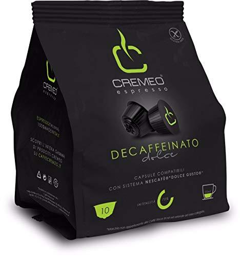 Caffè Cremeo - 100 Capsule Compatibili con Sistema NESCAFE' DOLCE GUSTO - Miscela Decaffeinato Espresso Bar