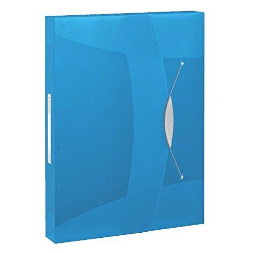 Esselte Carpeta de proyectos VIVIDA, A4, Capacidad para 350 hojas, Cierre elástico, Azul, 624047