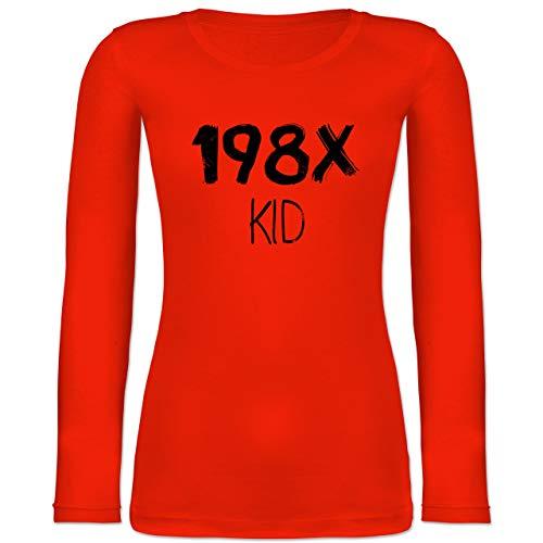Shirtracer Geburtstag - 198X Kid Vintage - S - Feuerrot - BCTW071 - Langarmshirt ()