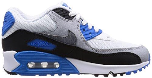 Nike Air Max 90 Mesh (Gs), Chaussures de sport garçon Blanc Gris