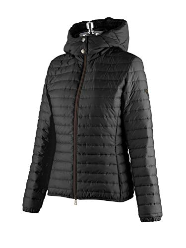 Animo Reitjacke Damen, leichte Jacke mit Kapuze, Modell Lode, Schwarz Größe 38