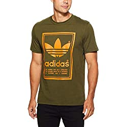 Camiseta adidas Vintage – Camiseta Hombre, DJ2718, Night Cargo, Medium