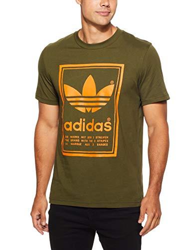 adidas Herren Vintage T-Shirt, Night Cargo, L (Langarm Vintage-polo-shirt)