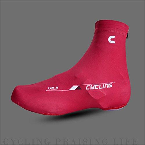 West Biking Herren/Damen staubdichten Road Fahrrad Lock Schuh Bedeckt MTB Fahrrad Überschuhe rot - rot