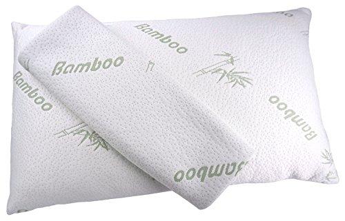 Iseaa cuscino in memory foam 70 x 40 x 13 cm ortopedico con 2 bambù fodera sfoderabile e lavabile antiacaro anallergico antibatterico