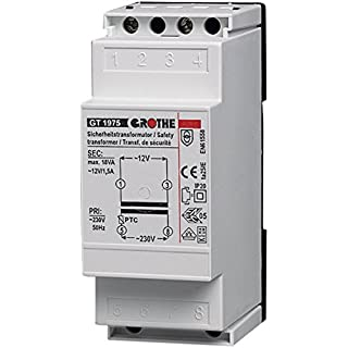 Grothe 1512019–Bell AC Courant Transformateur 12V, 1,5A, 1975GT