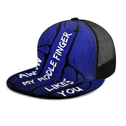 Mittelfinger Einstellbare Cowboy Denim Hut Unisex Hip Hop Baseball Caps DIY 13964