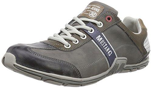 Mustang - Schnürhalbschuh, Sneakers da uomo, grigio (2 grau), 41