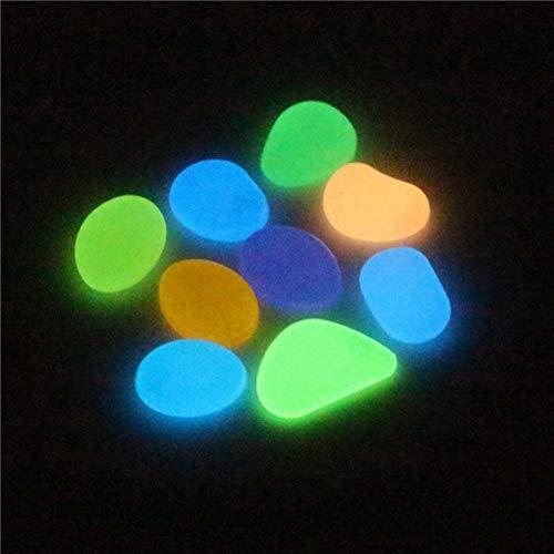 Neuheit Leuchtende Stein Spielzeug Aquarium Kopfsteinpflaster Bunte Glow Pebbles Stones Decor Spielzeug Multicolor ()