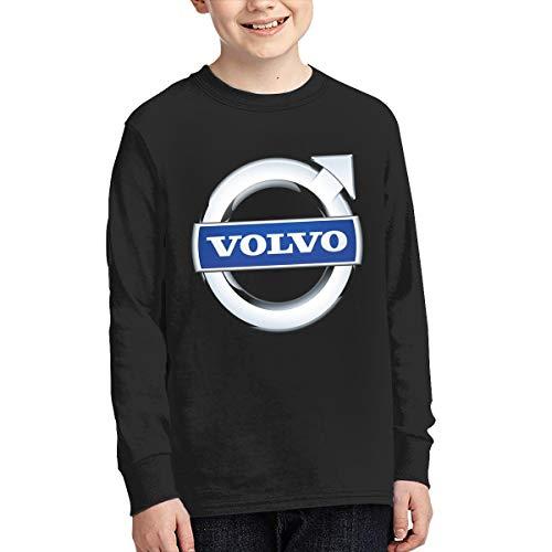 Kid's Youth Boys & Girls Volvo Logo Essential T-Shirt Junior Long Sleeve Lange Ärmel Tee T-Shirt Crew Neck T-Shirts Pullovers Tops (Tank-top Logo Juniors)