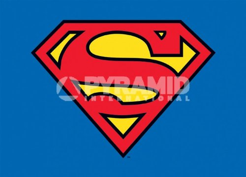 Postkarte - Superman - Klassisches Logo - 10 x 15 cm - Pyramide