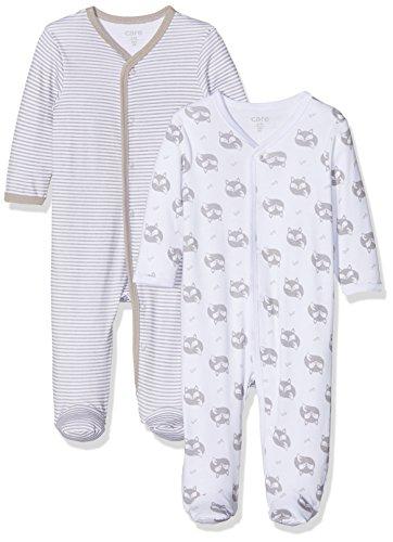 Care Unisex Baby Strampler 4136, 2er Pack, Gr. 56, Grau (Grey 172)